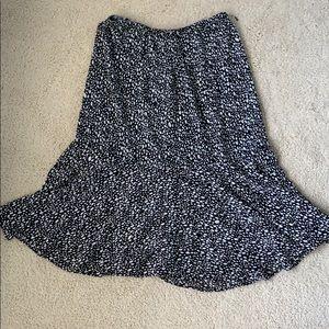 Black and White reversible skirt